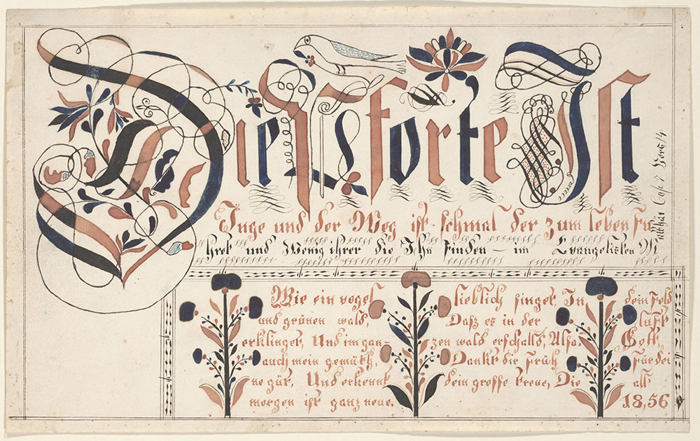 Writing Exercise (Vorschrift) (The Gate is Narrow [Die Pforte is Enge])