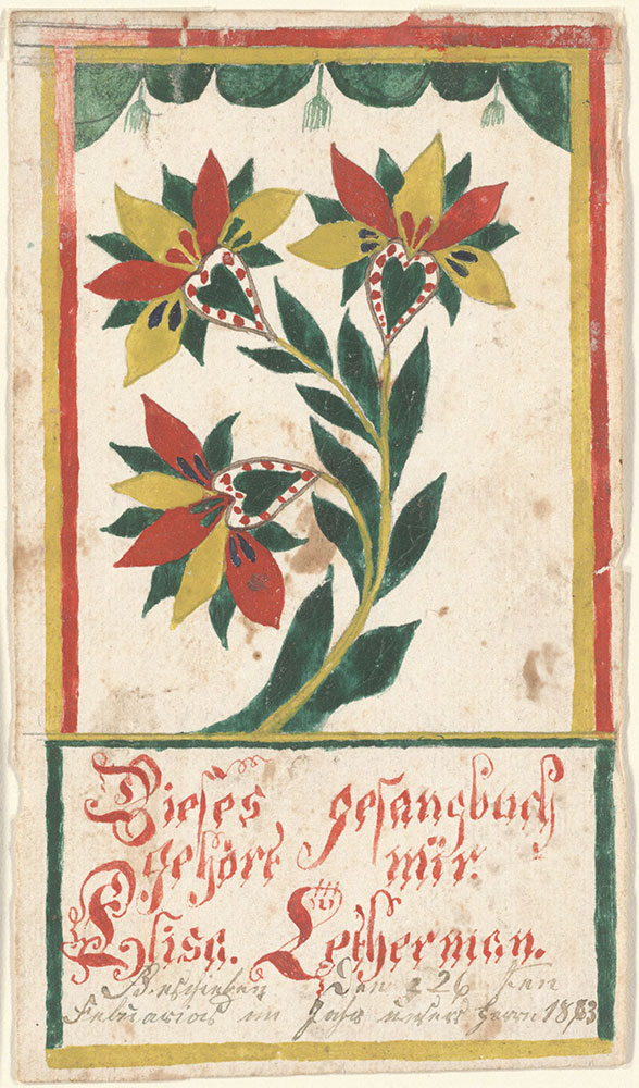 Bookplate (Bücherzeichen) for Elisa Letherman