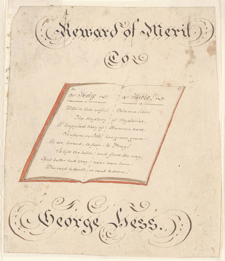 Reward of Merit for George Hess