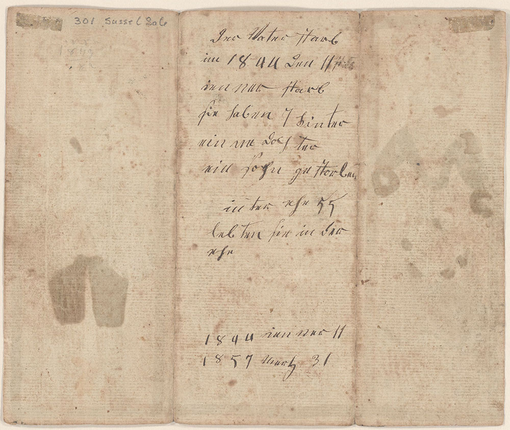 Birth and Baptismal Certificate (Geburts und Taufschein) for Eva Eissenhaer