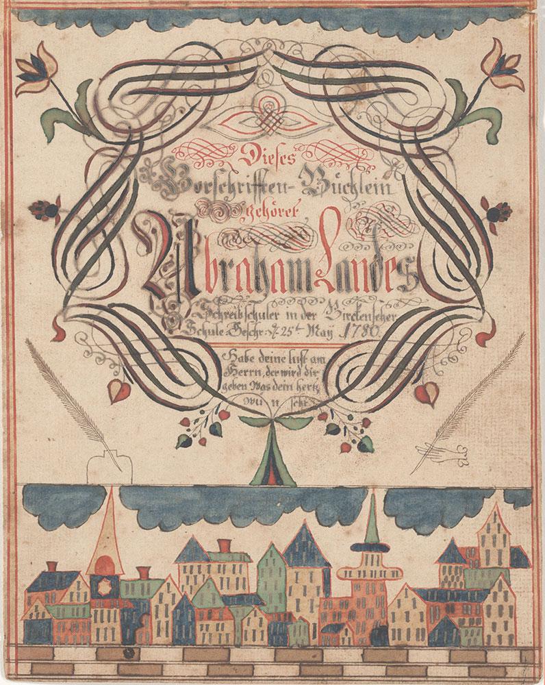 Bookplate (Bücherzeichen) for Abraham Landes