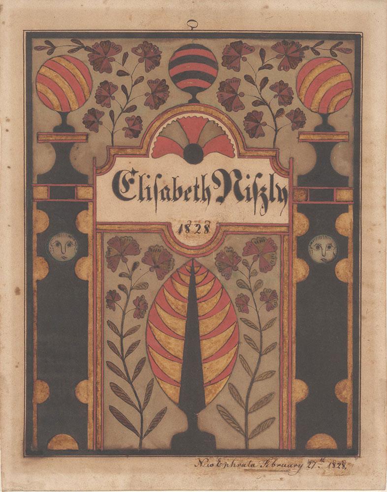 Bookplate (Bücherzeichen) for Elisabeth Niszly