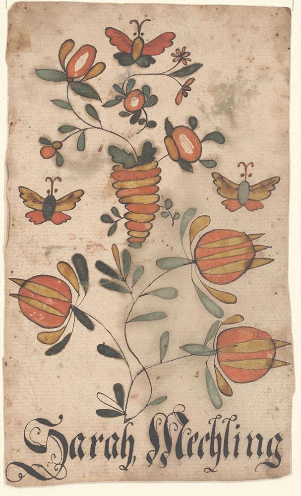 Bookplate (Bücherzeichen) for Sarah Mechling