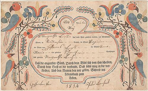 Pennsylvania German Fraktur and Manuscripts - Digital