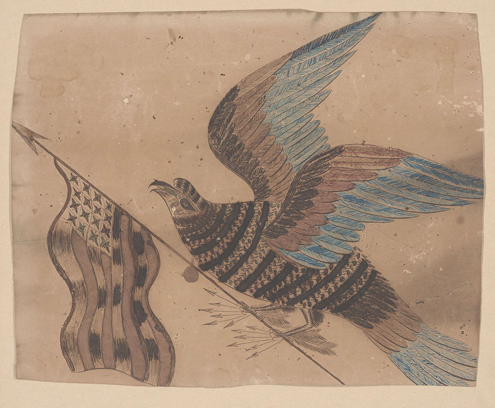 Drawing (Bird with flag)