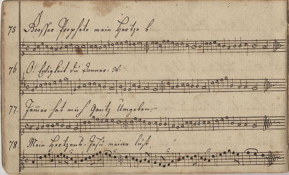 Dieses Sing=Noten=büchlein=gehört=Ludwig Beck. Sing=Schüler in der Ober=Mount=Betheler Schule geschrieben d. 2ten März. 1797.