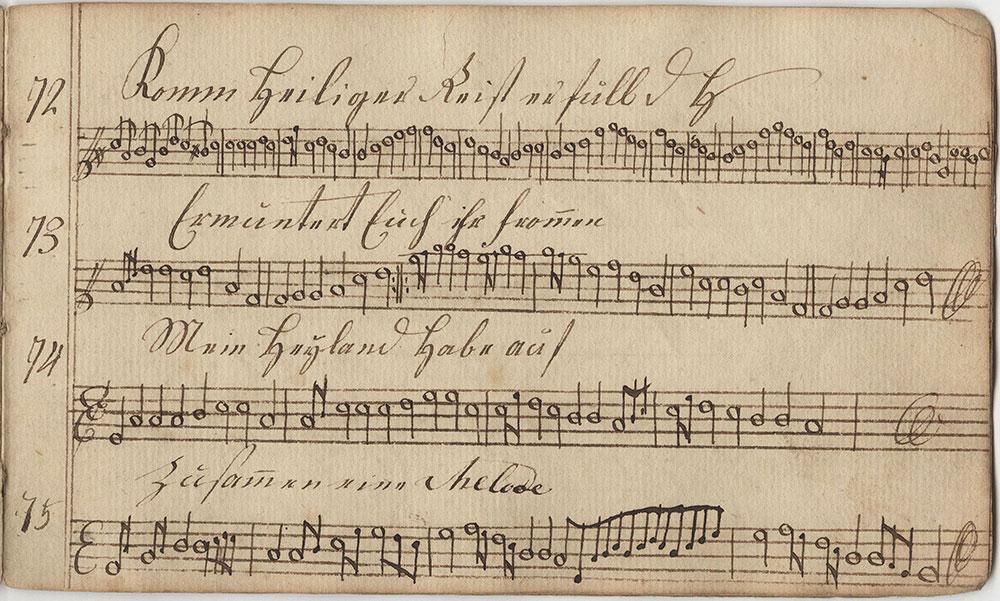 Dieses Sing=Noten=Büchlein gehöret Isaac Grobb fleissigem Singer in der Vincenter Schule in Chester County geschrieben d 21t februarÿ 1810