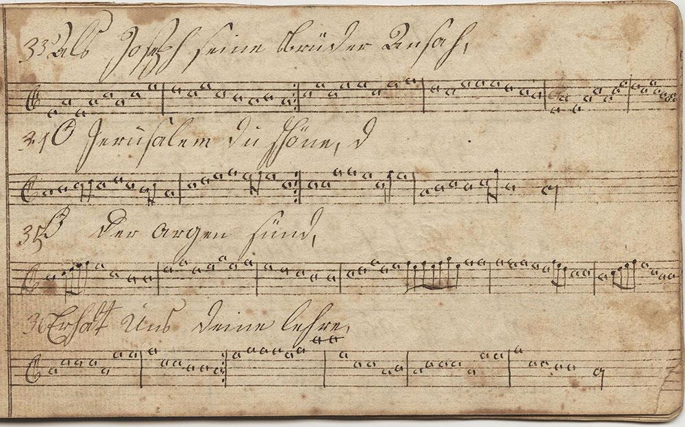 Dieses Harmonische Melodeyen büchlein Gehöret Johannes Honsperger, Sing Schuler in der birkenseher schule, geschrieben d 17ten Januarius Im Jahr 1815