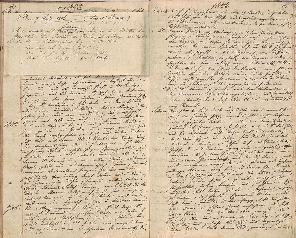 Theodor Schulz Diary, 1785-1844
