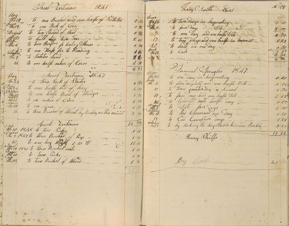 This is the Property of Jacob Tartman, Account Book, 1835-1857