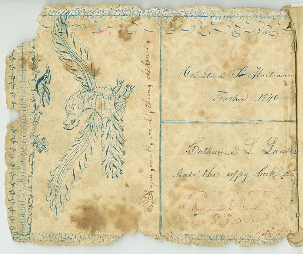 Catharina L. Landis Made this copy book…1850