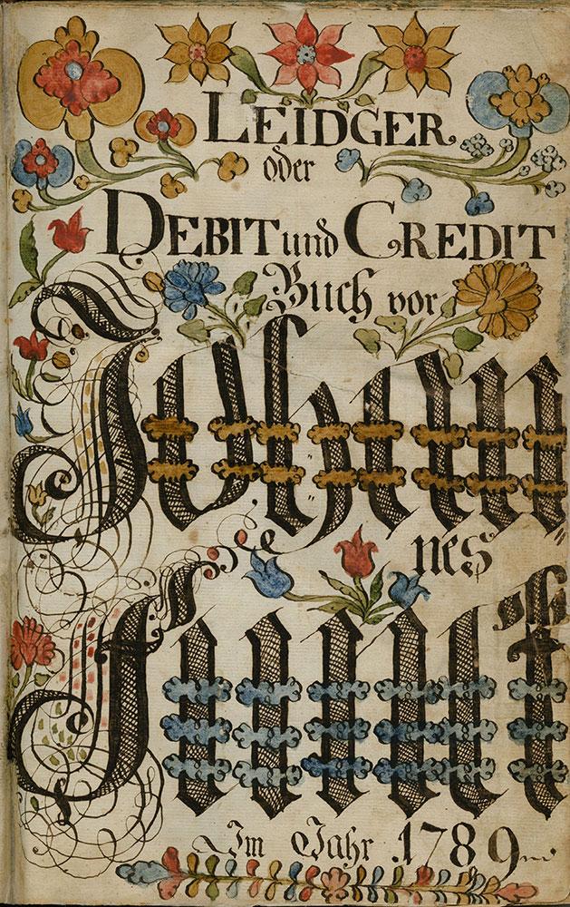 Leidger oder Debit und Credit Buch vor Johannes Funck Im Jahr 1789