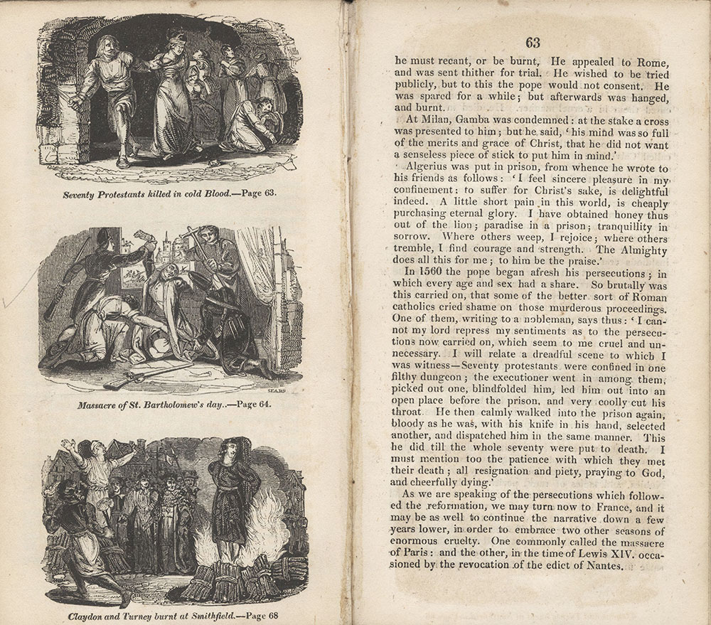 A Book of Martyrs, For the Young, pages 62-63