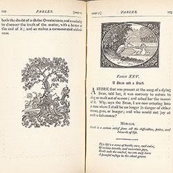 Bewick's Select Fables, pages 122-123