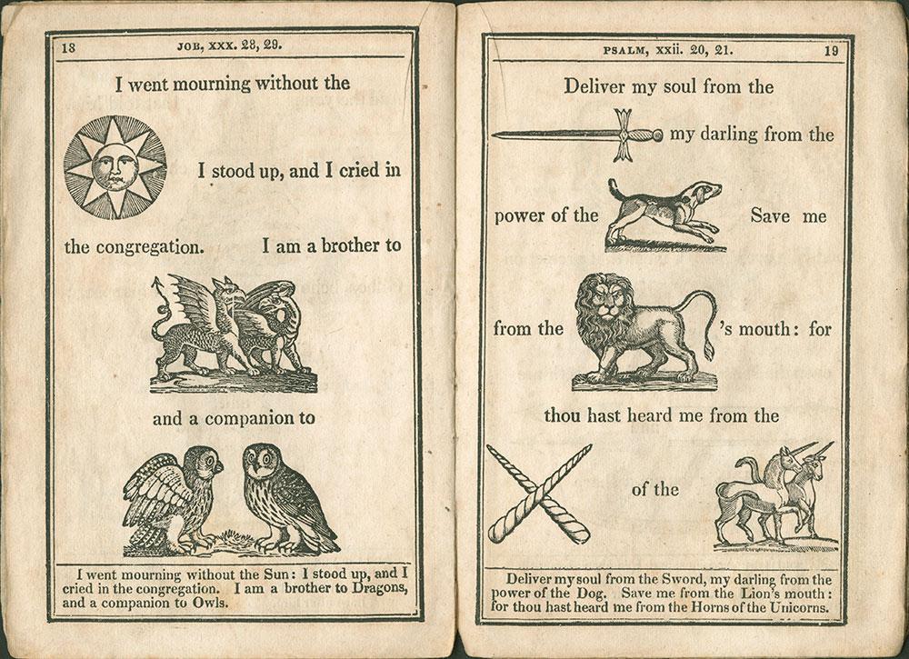 New Hieroglyphical Bible p.18 & 19