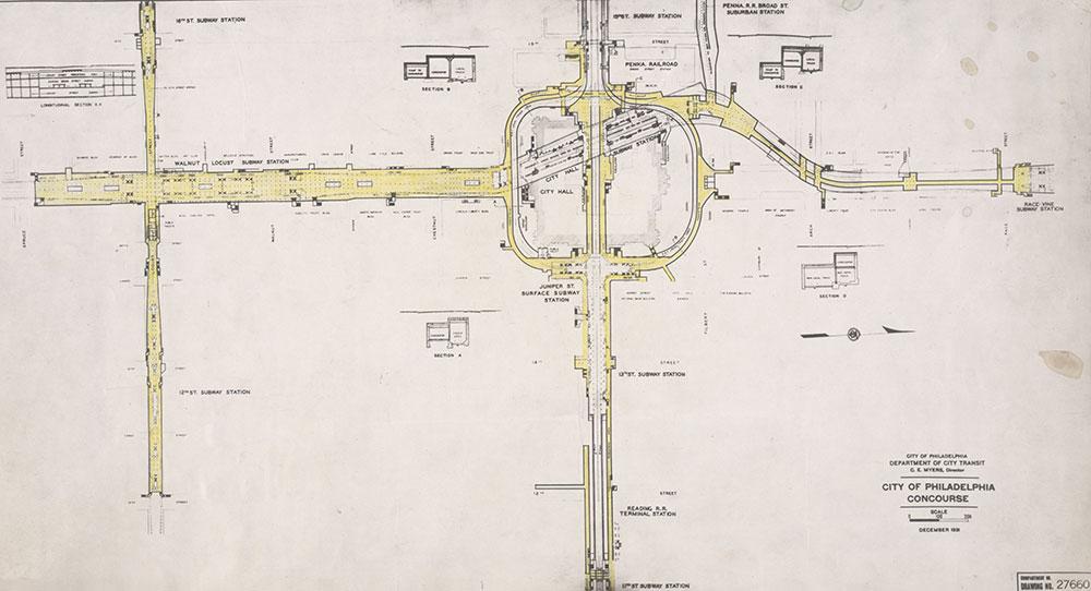City of Philadelphia Concourse, 1931, Map