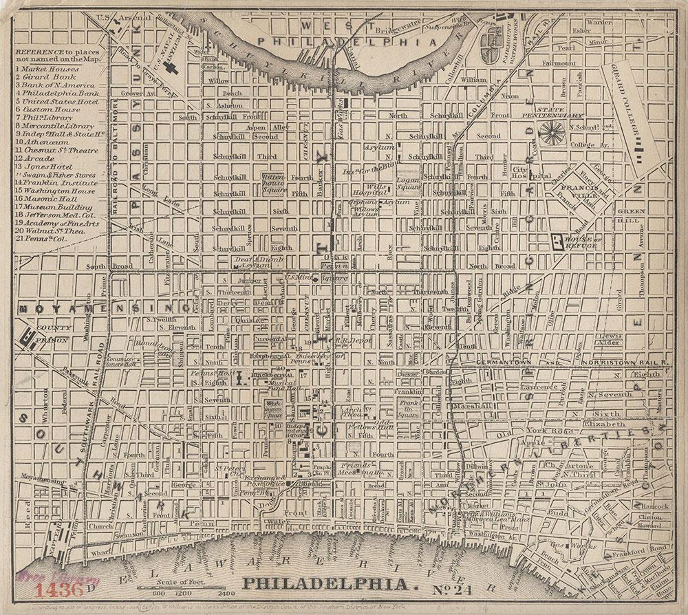 Philadelphia [Points of Interest], 1848, Map