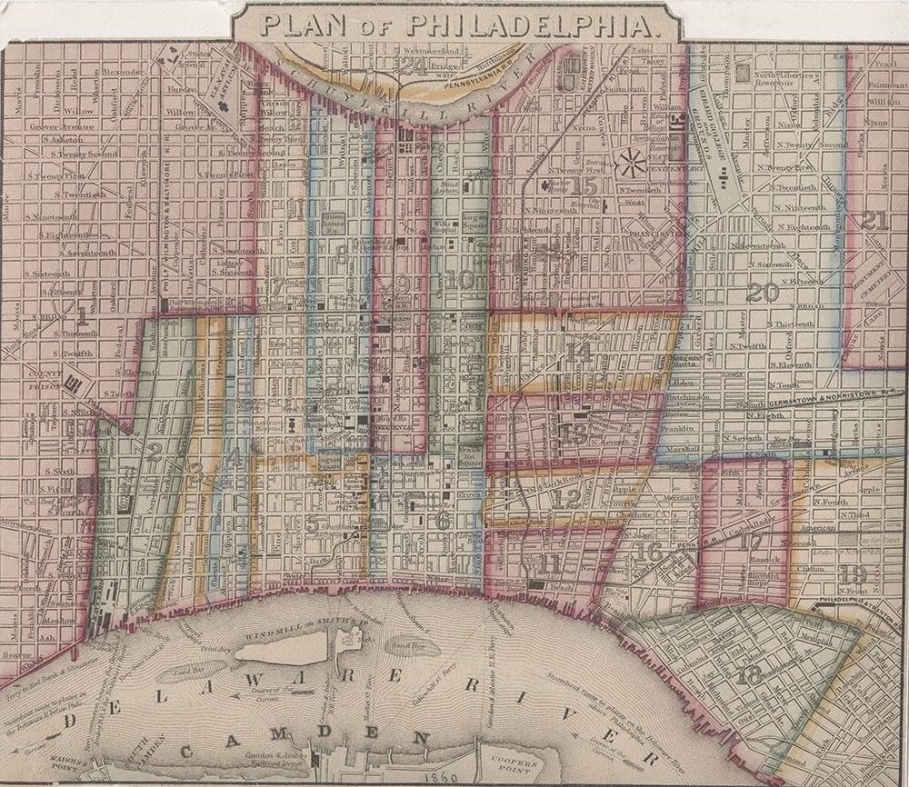 Plan of Philadelphia, 1860, Map