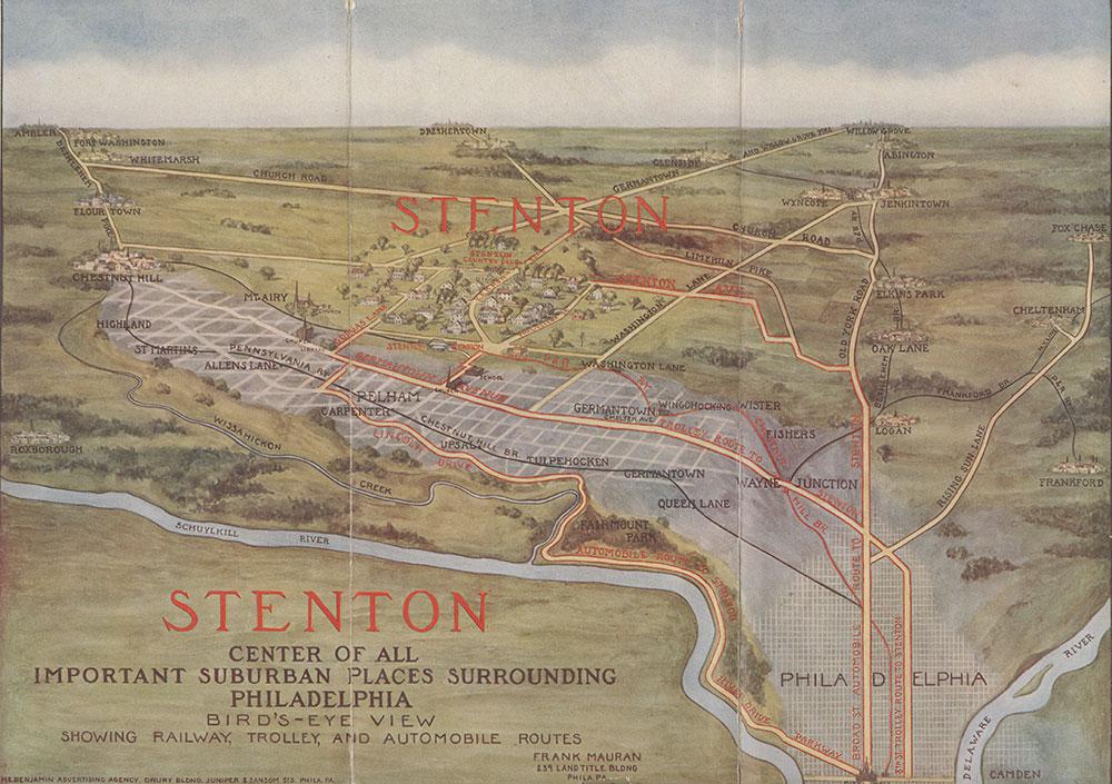 Stenton: Center of All Important Suburban Places Surrounding Philadelphia, 1910, Brochure [recto]