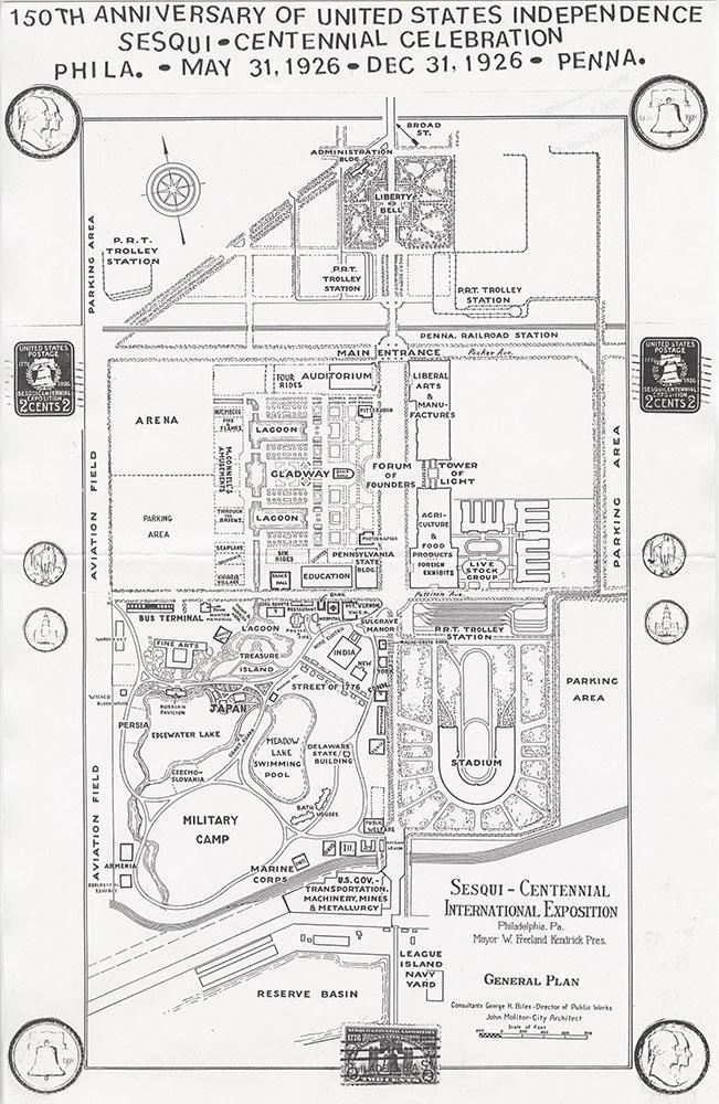 Sesqui-Centennial International Exposition [Philadelphia], 1926, Map