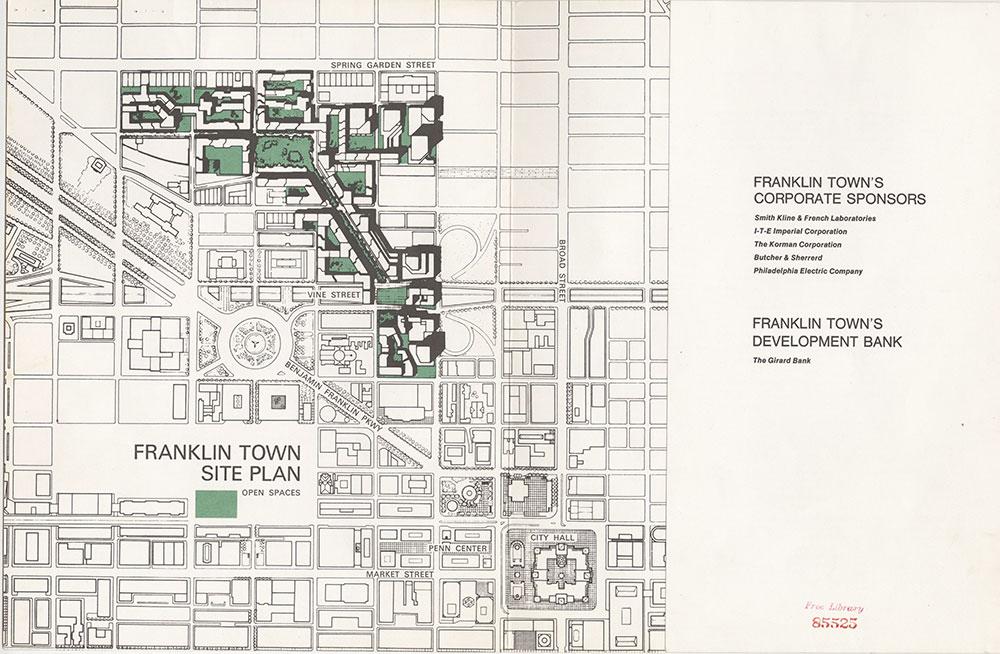 Franklin Town Site Plan, [1973], Map
