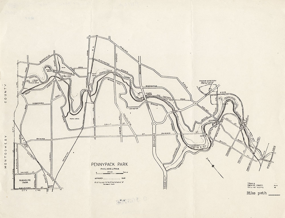 Pennypack Park, 1946, Map
