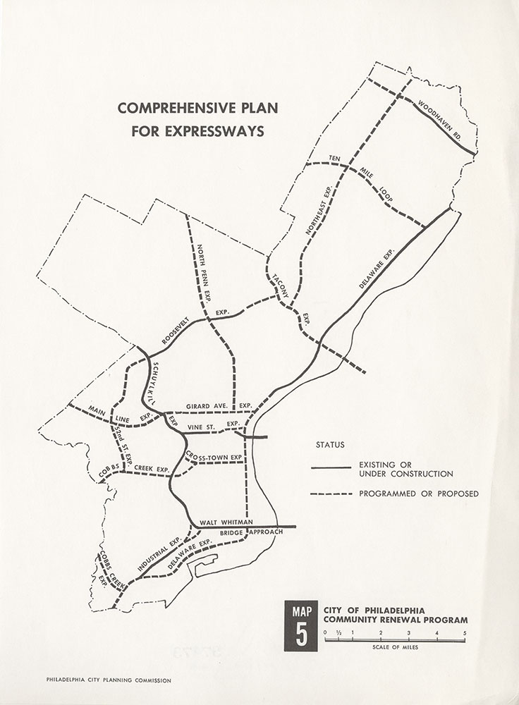 Comprehensive Plan For [Existing & Proposed] Expressways, c.1967, Map
