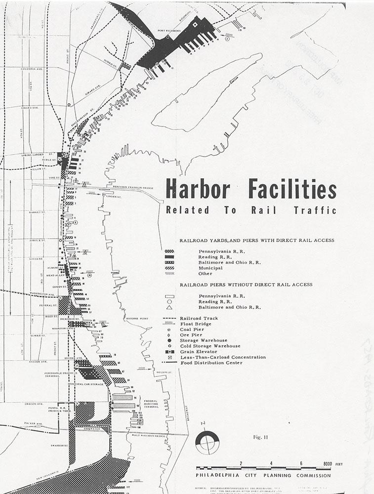Railroad Facilities: Philadelphia & Vicinity-Harbor Facilities Related to Rail Traffic, 1957-1958, Map