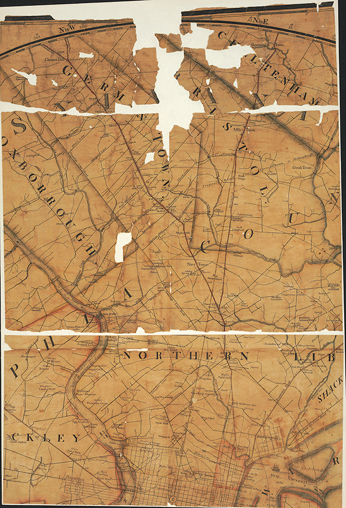 Plan of the City of Philadelphia and Environs, 1809 Map [Section 2 of 6]