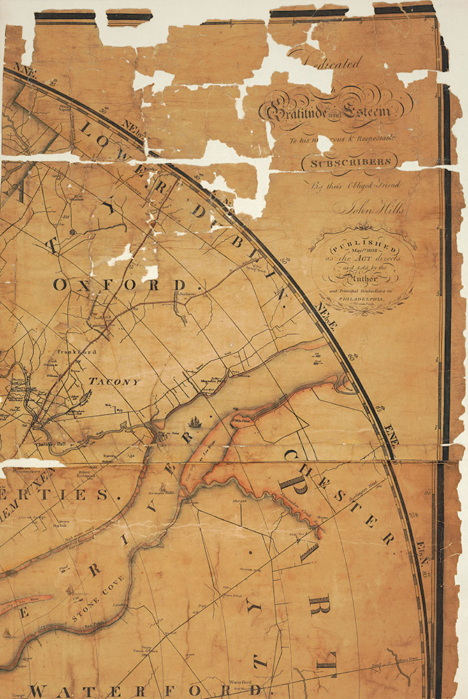 Plan of the City of Philadelphia and Environs, 1809, Map [Section 3 of 6]