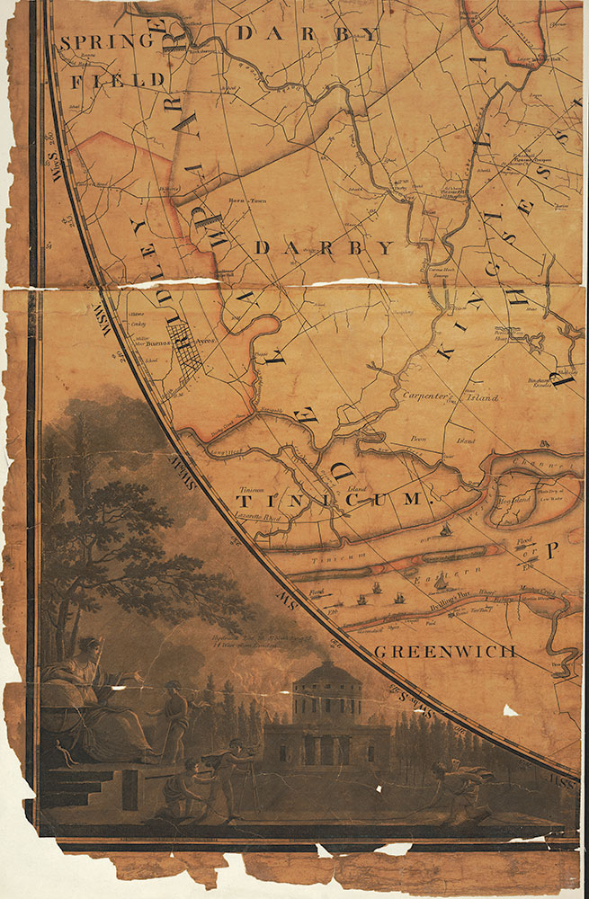 Plan of the City of Philadelphia and Environs, 1809, Map [Section 4 of 6]