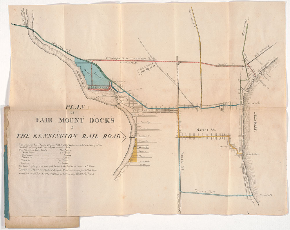Plan of Fair Mount Docks of the Kensington Rail Road, 1837, Map