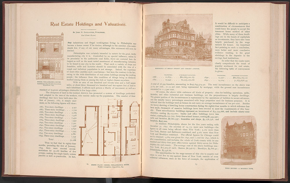 Model House illustration and floorplan, 1900, book