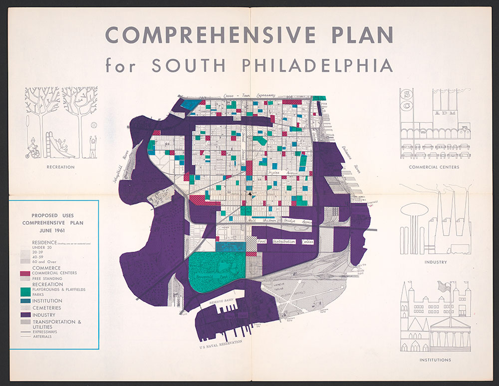 Comprehensive Plan for South Philadelphia, 1961, Map