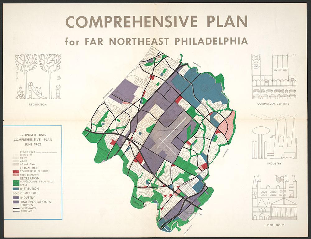 Comprehensive Plan for Far Northeast Philadelphia, 1963, Map