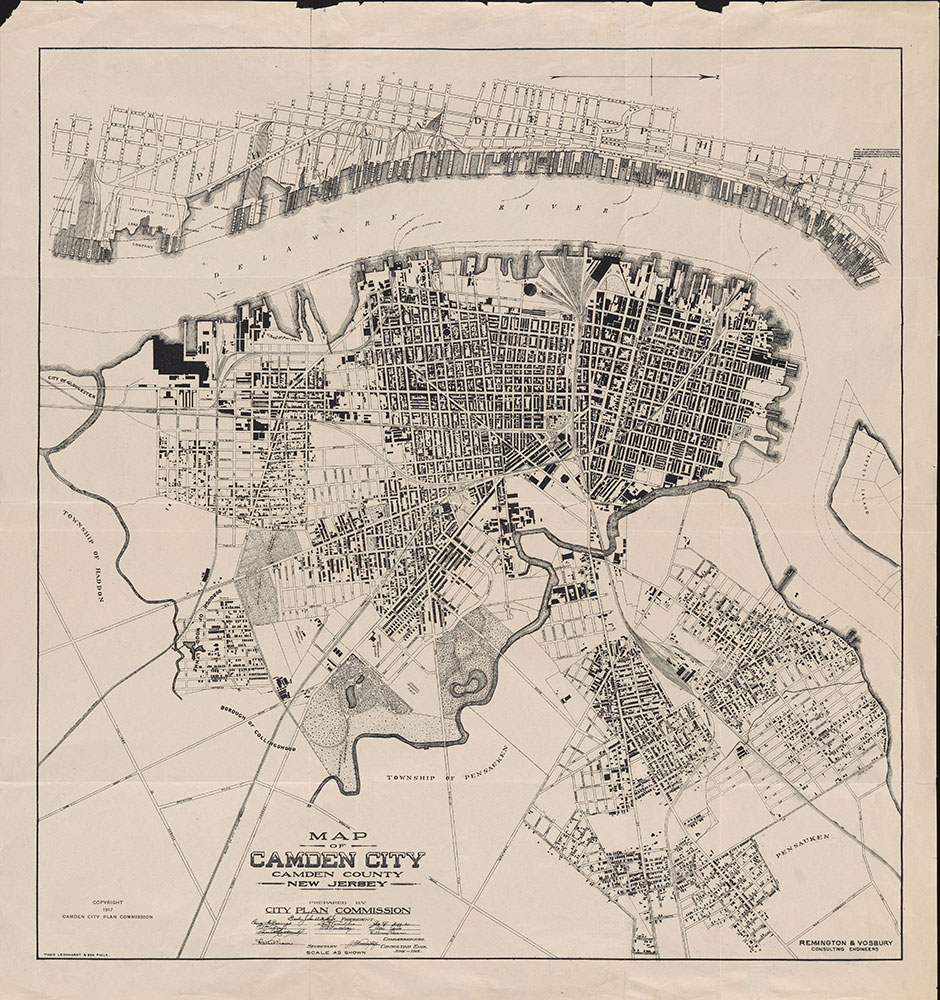 Map of Camden City Camden County New Jersey, 1917