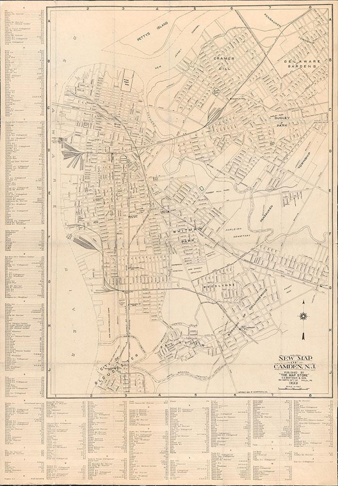 New Map of Camden, NJ, 1926