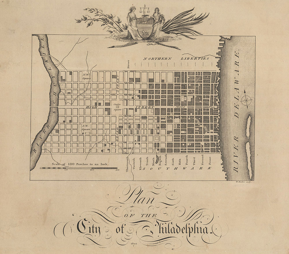 Plan of the City of Philadelphia, 1800, Map