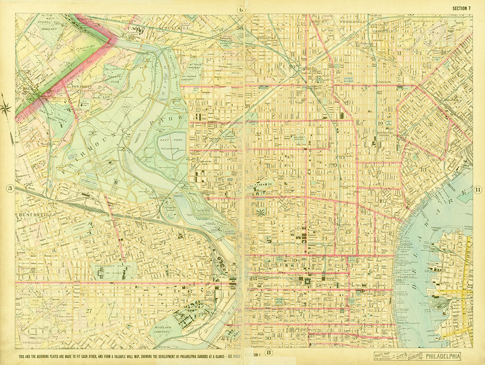 Baist's Map Showing the Development of the City and Suburbs of Philadelphia, 1897, Plate 7