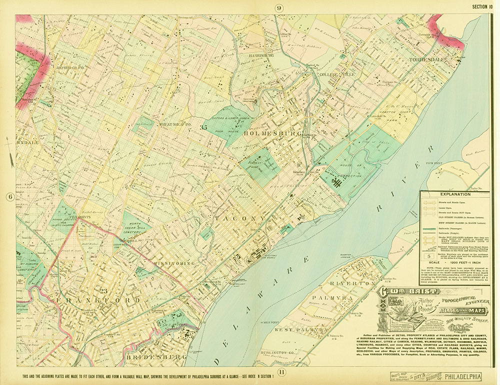 Baist's Map Showing the Development of the City and Suburbs of Philadelphia, 1897, Plate 10