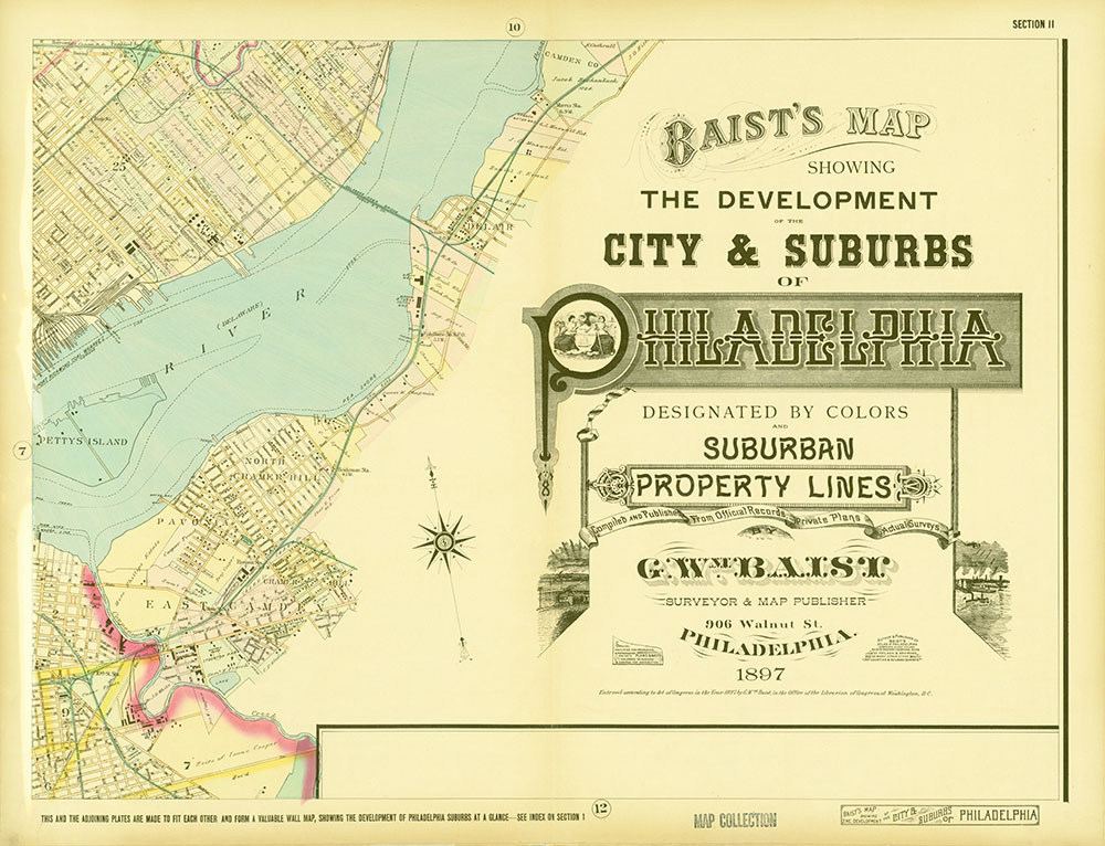 Baist's Map Showing the Development of the City and Suburbs of Philadelphia, 1897, Plate 11
