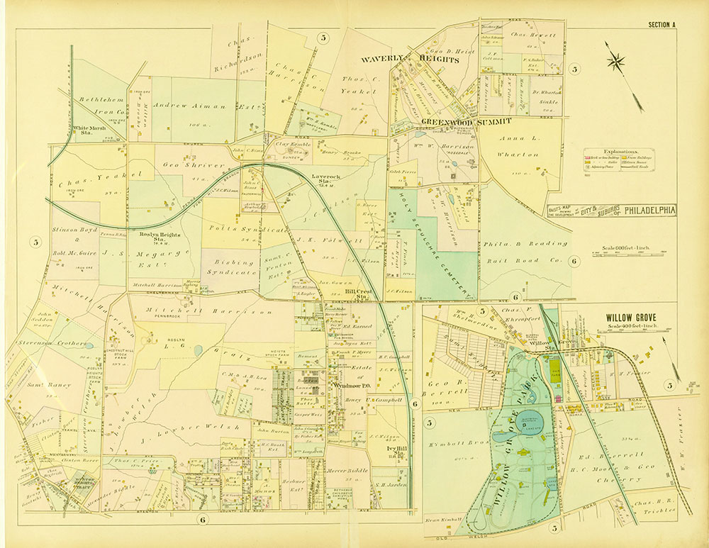 Baist's Map Showing the Development of the City and Suburbs of Philadelphia, 1897, Plate A
