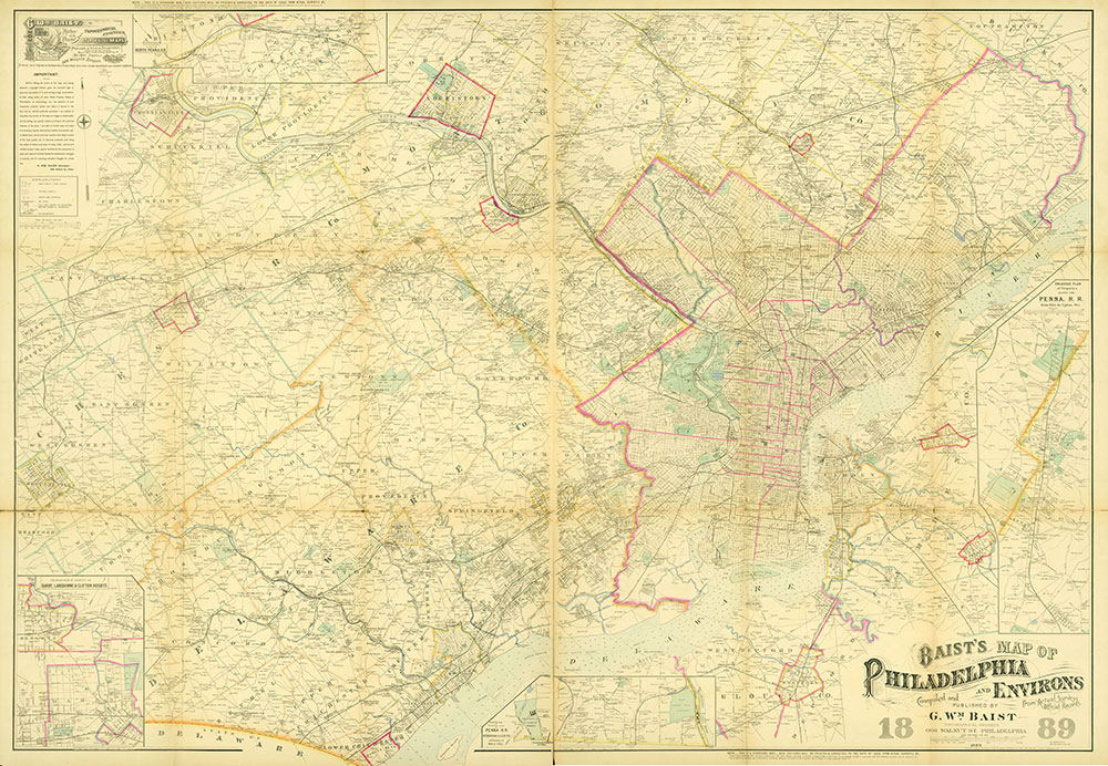 Baist's Map of Philadelphia and Environs, 1889, Map