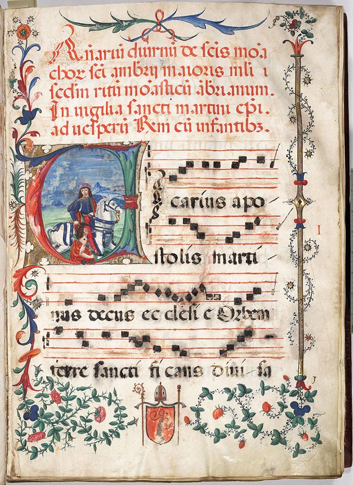 Antiphonary, diurnal (Ambrosian Rite)