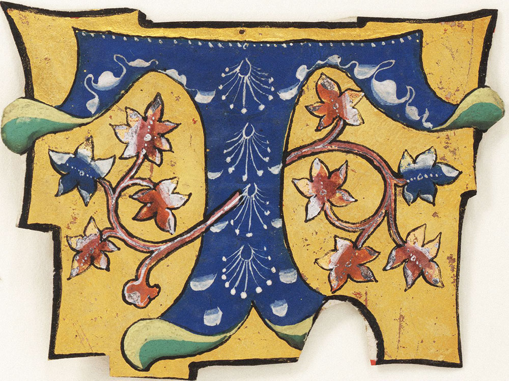 Decorated initial T