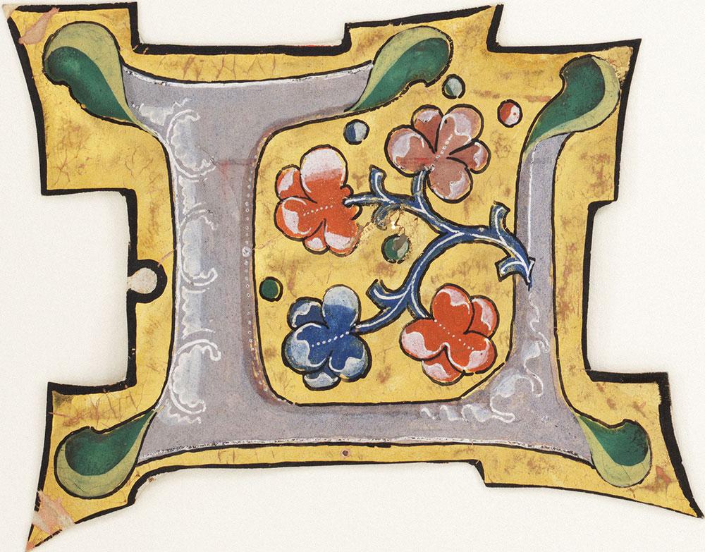 Decorated initial L
