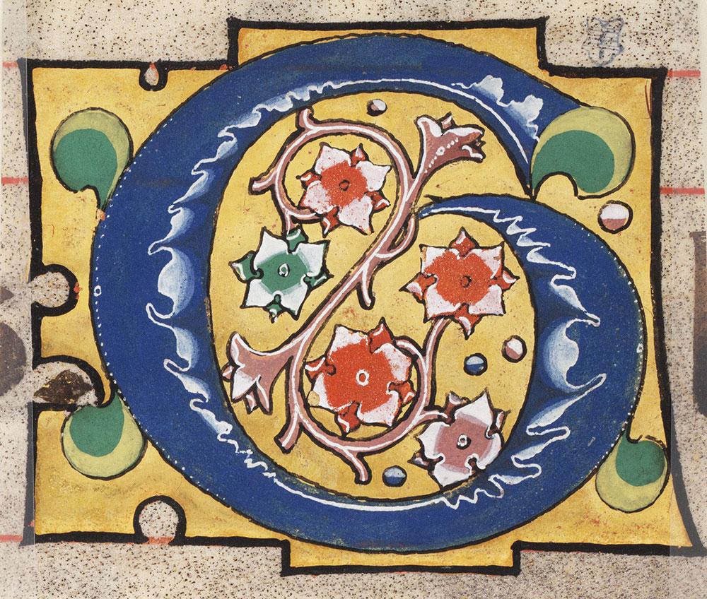 Decorated initial G