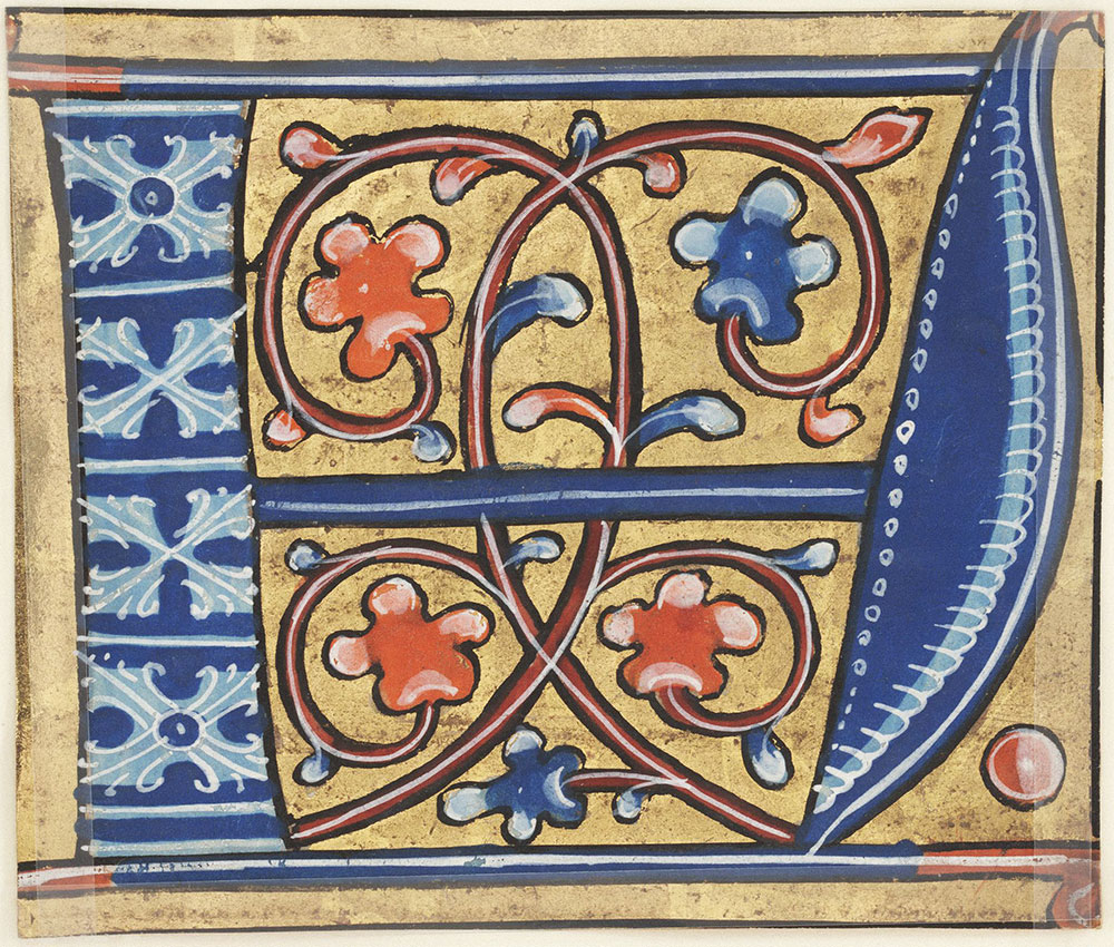 Decorated initial A