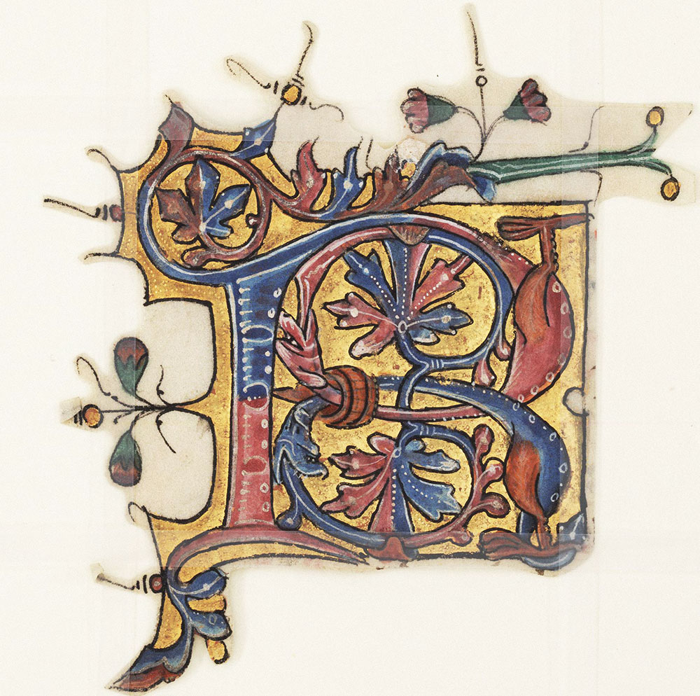 Decorated initial B