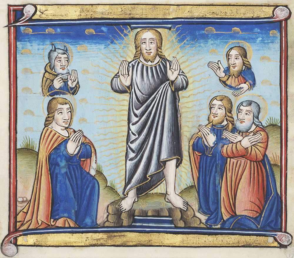 Miniature depicting the Transfiguration of Christ